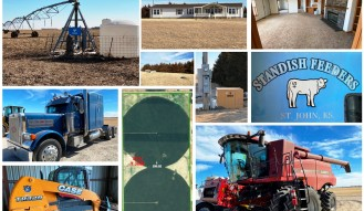 Stafford County Irrigated Land w/ Home & Farm Equipment Lineup