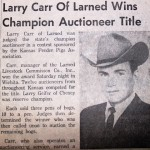 Larry Carr | State Champion Auctioneer